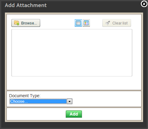 Adding a document brokerbrain help for Documents 5 help